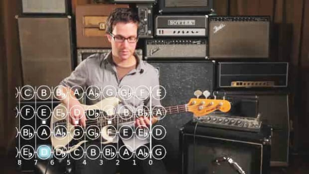 ZZE. How to Play a C Minor Scale on Bass Guitar Promo Image