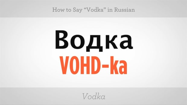 "ZZP. How to Say ""Vodka"" in Russian Promo Image"