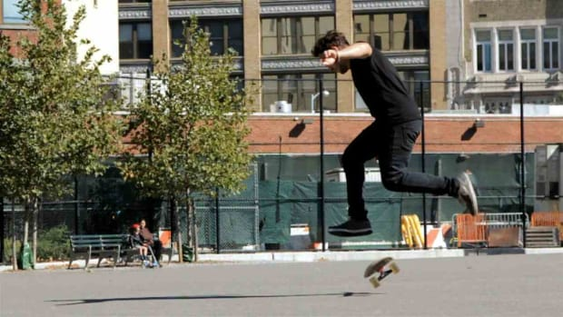 Y. How to Do a Fakie 360 Shove It on a Skateboard Promo Image