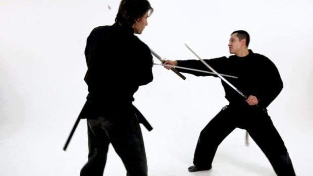 ZT. How to Defend against a Cut to the Leg during a Sword Fight Promo Image