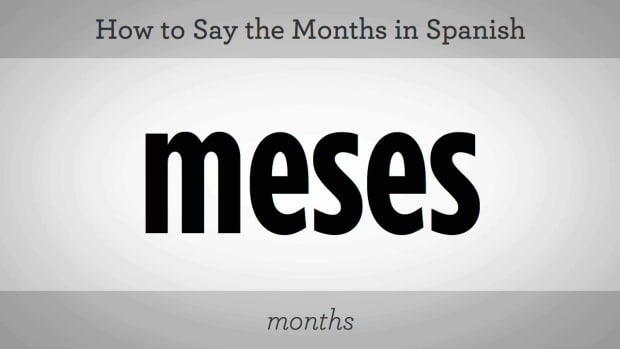 D. How to Say the Months of the Year in Spanish Promo Image