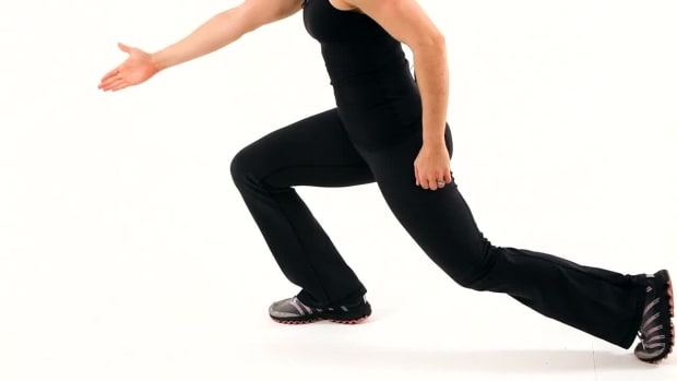 Q. How to Do a Walking Lunge for a Boot Camp Workout Promo Image