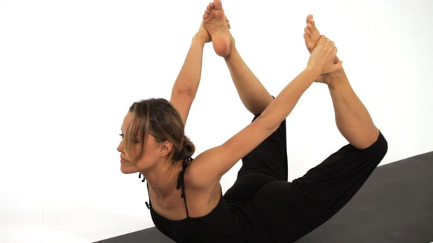 Y. How to Do a Bow Yoga Pose (Dhanurasana) Promo Image