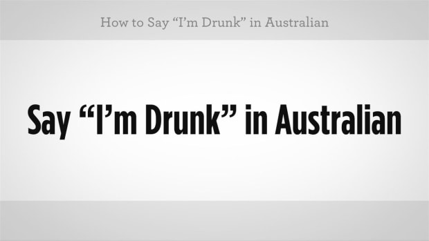 "R. How to Say ""I'm Drunk"" in Australian Slang Promo Image"