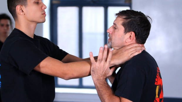 A. How to Defend against a Choke from the Front in Krav Maga Promo Image