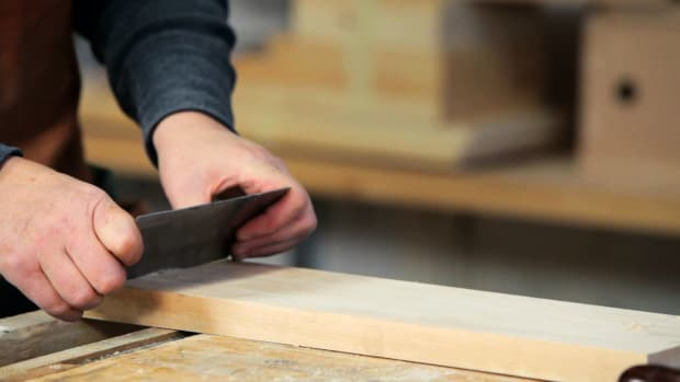 F. How to Use a Cabinet Scraper for Woodworking Promo Image