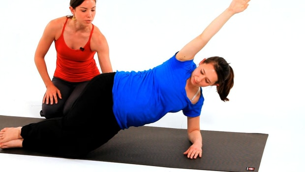 ZF. How to Do Prenatal Pilates Mermaid Move in Pregnancy Workout Promo Image