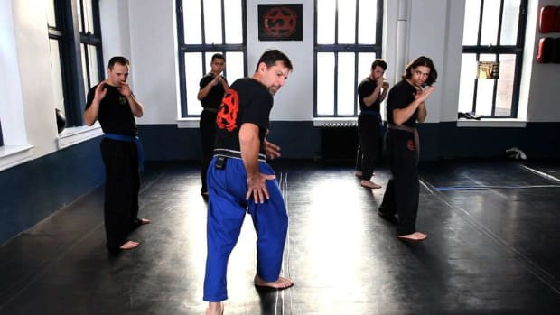 D. How to Do a Krav Maga Defense Kick to the Rear Promo Image