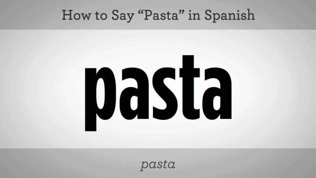"ZD. How to Say ""Pasta"" in Spanish Promo Image"
