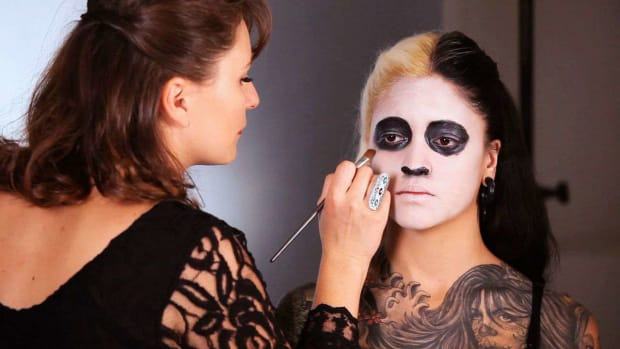 R. How to Do a Day of the Dead Makeup Base Promo Image