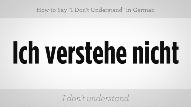 "ZN. How to Say ""I Don't Understand"" in German Promo Image"