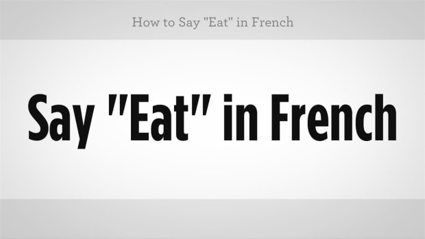 "ZZG. How to Say ""Eat"" in French Promo Image"