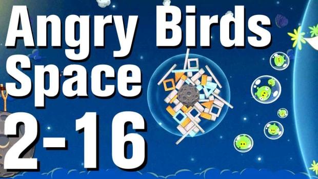 ZT. Angry Birds: Space Walkthrough Level 2-16 Promo Image