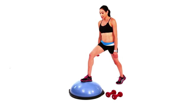 W. How to Do a Basic Bosu Ball Lunge Promo Image
