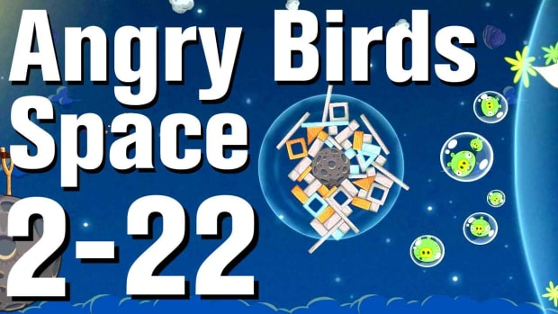 ZZ. Angry Birds: Space Walkthrough Level 2-22 Promo Image