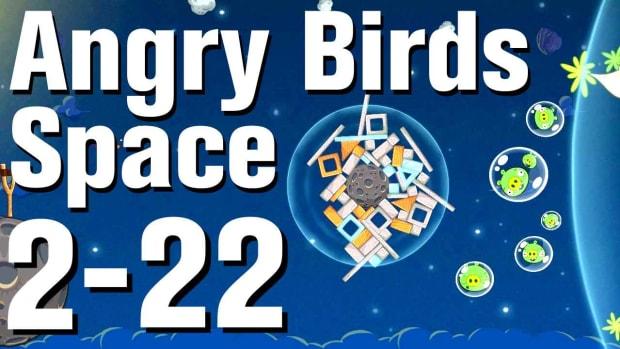 ZZ. Angry Birds: Space Walkthrough Level 2-22 Promo Image