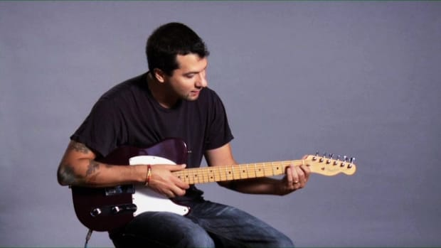 ZZZZZF. How to Play a D Major 7 Barre Chord on Guitar Promo Image