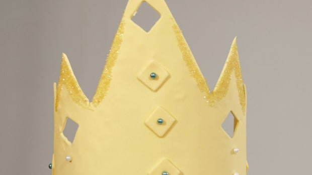 H. How to Make a Fondant Crown for a Princess Cake Promo Image