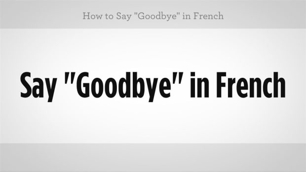 "C. How to Say ""Goodbye"" in French Promo Image"