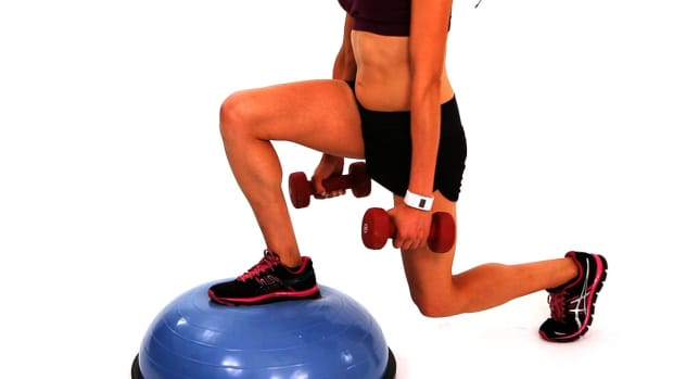 ZF. How to Do a Backward & Forward Lunge with a Bosu Ball Promo Image