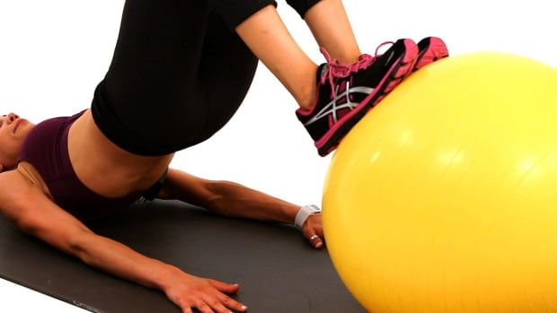 C. How to Do a Glute & Hamstring Workout on a Stability Ball Promo Image
