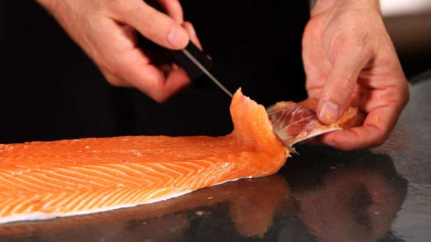 I. How to Remove the Skin from a Salmon Fillet Promo Image