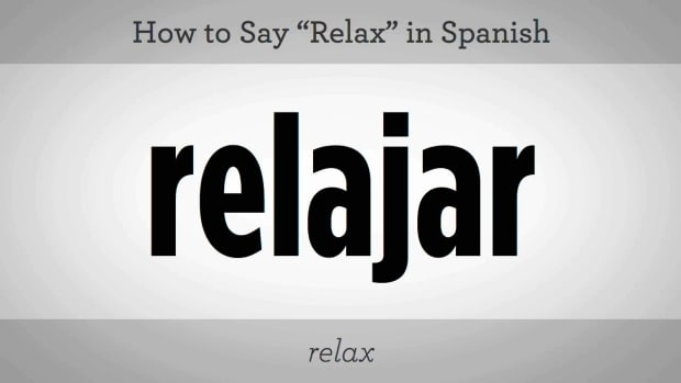 "ZB. How to Say ""Relax"" in Spanish Promo Image"