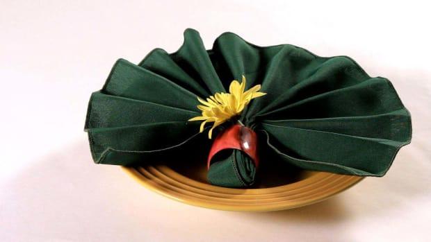 Q. How to Fold a Napkin into a Leaf Promo Image