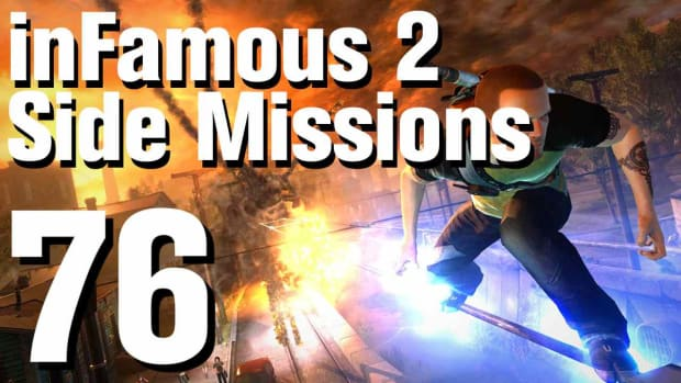 ZZZZP. inFamous 2 Walkthrough Side Missions Part 76: Hidden Package - Tran Yard 2 Promo Image