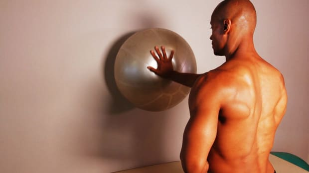 ZA. How to Do a Shoulder Stabilization with a Stability Ball Promo Image