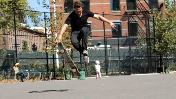 ZB. How to Do an Acid Drop aka Bomb Drop on a Skateboard Promo Image