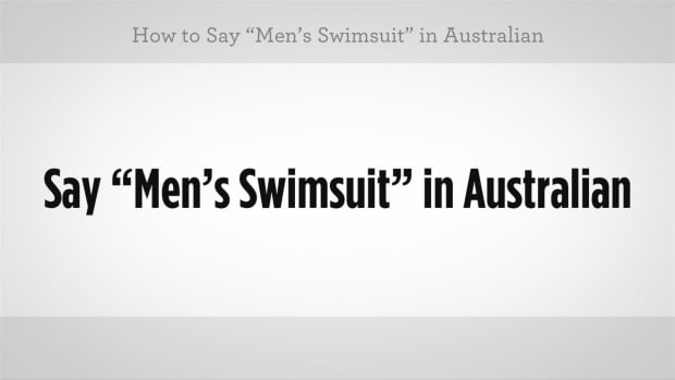 "K. How to Say ""Men's Swimsuit"" in Australian Slang Promo Image"