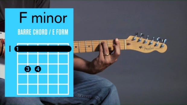 ZZZU. How to Play an F Minor Barre Chord on Guitar Promo Image