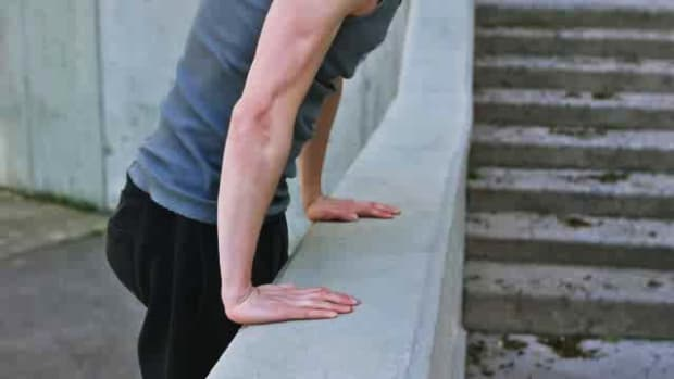 P. How to Do a Parkour Muscle-Up or Climb-Up Promo Image