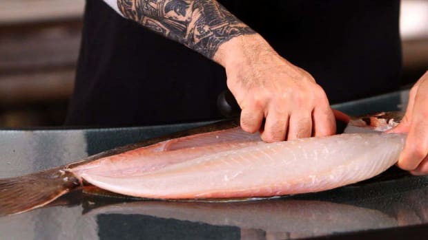 C. How to Cut out a Flounder Fillet Promo Image