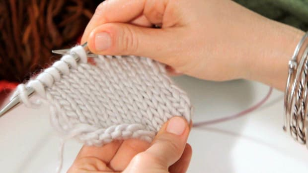 D. How to Do a Stockinette Stitch in Knitting Promo Image