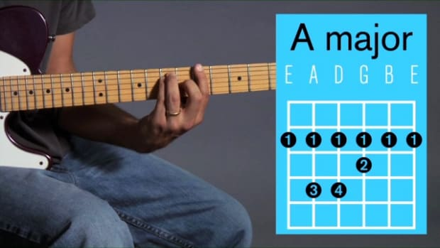 ZZY. How to Play an A Major Barre Chord on Guitar Promo Image