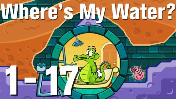 Q. Where's My Water Walkthrough Level 1-17 Promo Image