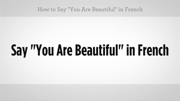 "ZW. How to Say ""You Are Beautiful"" in French Promo Image"