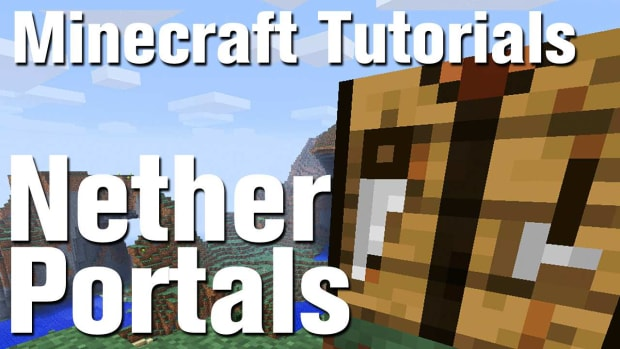 Y. Minecraft Tutorial: How to Make a Nether Portal Promo Image