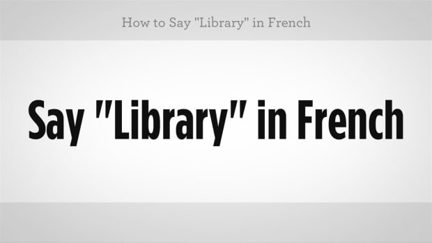 "ZZK. How to Say ""Library"" in French Promo Image"