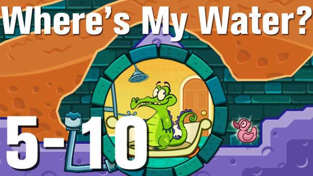 ZZZL. Where's My Water Walkthrough Level 5-10 Promo Image