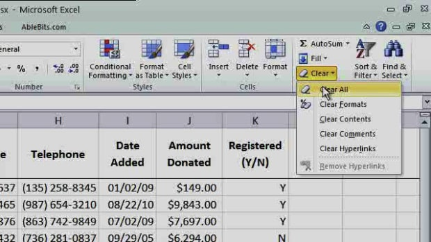 P. How to Use the Clear Functions in Excel Promo Image