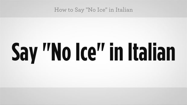 "ZZU. How to Say ""No Ice"" in Italian Promo Image"