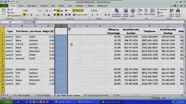 K. How to Add & Delete Rows & Columns in Excel Promo Image
