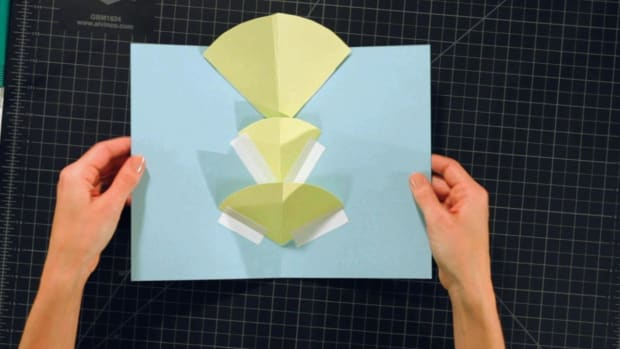 C. How to Make a V-Fold for Pop-Up Cards Promo Image