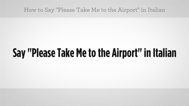 "ZZI. How to Say ""Please Take Me to the Airport"" in Italian Promo Image"