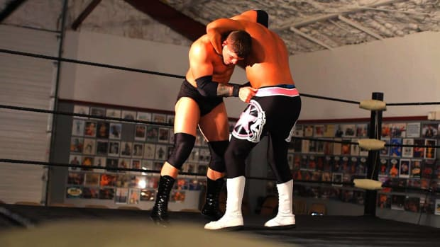Y. How to Do a Front Facelock Suplex Wrestling Move Promo Image