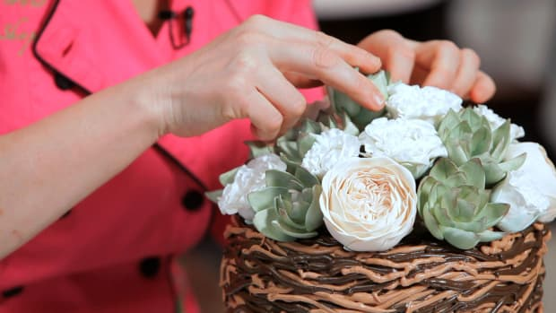 Lesson 11: Piping a Twig Basket Cake Promo Image
