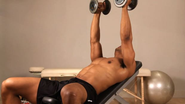 R. How to Do an Incline Dumbbell Fly Promo Image